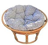 Totsy Baby 2 en 1 Tapis d'éveil Rond et en papasan avec Grand Coussin de Sol rembourré Gris et Blanc Ø 110 cm (Gris, 110 cm)
