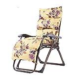 Chaise de camping pliante ménage vieil homme dossier pliable chaise/de bureau Siesta Chaise pliante/ajustable Sofa Space-Sauveil inclinable/portable Chaise longue et salle d'ouverture à la plage
