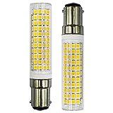 B15D Lot de 2 ampoules LED à incandescence halogènes 7 W 100 W SBC Petite baïonnette LED 230 V Non dimmable Blanc froid 6500 K Pour machine à coudre / armoire Lumière Lot de 2