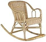 AUBRY GASPARD Rocking Chair chloé pour Enfant en rotin 41x75x52cm