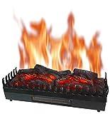 Chemin'Arte - Foyer Electrique Flammes XL + Chauffage 2000W, 67x23x24cm