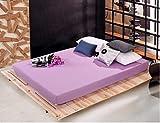 PENVEAT 160x200cm Drap de lit Noir Couvre-Matelas en Drap-Housse élastique 100% Polyester, Violet Clair, 160x200x25cm