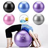 Swiss Ball Ballon Fitness pour Ballon Pilates, Yoga, Gym, Grossesse, Sport, Musculation, Equilibre, Gros Ballon Siege Bureau Gonflable, Gym Ball Stabilité Anti Explosion avec Pompe à Pied (75cm Rose)