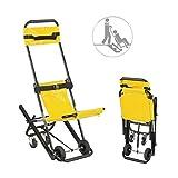 LRX Brancards Ascenseur Portable Chaise d'escalier Pliable escalier Brancard médical, Ambulance évacuation Pompier for Personnes âgées handicapées avec Quick Release Buckles