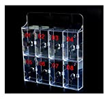 Rangement pour téléphone, transparent épaissi, avec serrure, boîte de rangement en acrylique, trou pour câble USB-Armoire pour téléphone portable 8 portes