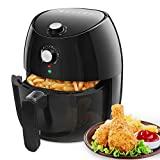 Aigostar Hayden - Friteuse électrique sans huile, friteuse à air chaude, 1500W, format familial 4,2 L, panier de friture anti-adhérant, fonction d'arrêt automatique. Sans BPA, facile à nettoyer.