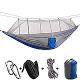 Lit Suspendu, hamac de Voyage, Rangement pour Camping de Voyage(Gray Spell Blue)