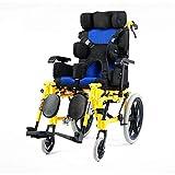 YIQIFEI Fauteuil Roulant Ultra léger en Aluminium pour Enfant automoteur, entièrement Pliant, Scooters de mobilité manuels avec Repose-Jambes a (Chaise)