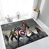 ZZXC Tapis De Bande Dessinée Cool Avengers Hulk Équipe USA Long Rectangle Tapis Chambre Canapé Chambre d'enfants Salle D'Étude Antidérapant Facile À Nettoyer