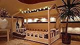 Oliveo lit cabane Barrières de sécuritér, Lit pour Enfants,lit d'enfant,lit cabane avec barrière Couleur, 5 Jours Livraison (200 x 140 cm)