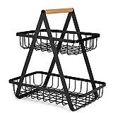 WJCCY Métal Fruit Basket Portable Cuisine de stockage Countertop étagères Rack for les fruits légumes cosmétiques toilette ménagers