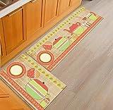 OPLJ Tapis de Cuisine créatif Tapis de Sol de Cuisine à Domicile Tapis Anti-dérapant Tapis de Porte de Couloir d'entrée Tapis de Zone de Balcon A24 50x80cm + 50x160cm