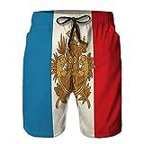 fgdhfgjhdgf Boardshorts été pour Homme Short décontracté Armoiries et Drapeau français XL