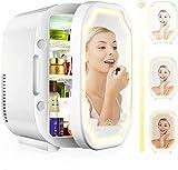 Mini réfrigérateur avec compartiment congélateur, capacité de 8 litres, compartiment de congélation de 8 litres, silencieux de 28 dB, acier inoxydable, argent NO.1