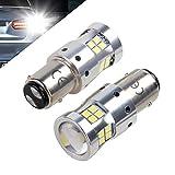 1157 P21/5w Bay15d 12V 24V 30V LED Ampoules Pour Voiture et moto, 1300LM, Avec Projecteur Objectif, 6000K Blanc Pour les feux de freinage, les feux arrière, les feux de jour, etc. (Lot de 2)