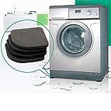 4pcs multifonctions Réfrigérateur anti-vibration Pad Mat for machine à laver Tapis chocs antidérapants Tapis Set Accessoires de salle de bain