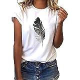 JERFER ღMeilleure Vente Mode Coeur Manches Courtes Loose Femmes T-Shirt imprimé décontracté O-Neck Top