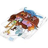 Tapis de chaise Dessin animé Happy Animals Voilier Ship 91,4 x 121,9 cm avec lèvre chaise avec lèvre pour sols durs