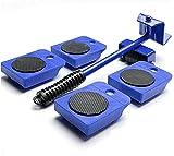 AIlysa Outil Mobile de Transport de Meubles Lourds 5 en 1, pour Soulever et Déplacer Un élévateur de Meubles , Pour armoires lourdes/ Pianos/Réfrigérateurs etc. Maximum Load 150kg (Bleu)
