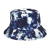 HAOHAG Chapeau Seau Casquette De Pêcheur Chapeau de Soleil Bobs en Plein air Chapeau D'été Protection Solaire Chapeau de Plage Rue Hip hop Fashion Mode Extérieur Décontractée (Bleu)