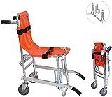 GLJY Chaise d'escalier en Alliage d'aluminium EMS - Ambulance Pliable légère, évacuation de Pompier, Chaise d'évacuation d'urgence d'escalier d'ascenseur médical avec Boucles à dégagement Rapide