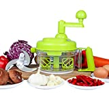 Tenta Kitchen Manuel à Légumes Fruits et Viandes Hachoir de 3-Lames pour oignon ail persil noix Découpe Légumes Fruits d'une grande Capacité de 800ml avec une lame de mélangeur