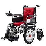 BJH Fauteuil Roulant électrique Fauteuil Roulant électrique Pliant pour handicapés, Tout-Terrain, Robuste, Puissant, Fauteuil Roulant électrique Pliable à Double Moteur, fauteuils roulants élect