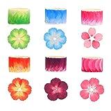 BELIOF 480 Pcs Washi Tape Sakura à Bullet Journal 6 Rouleau de Pétales Autocollants de Sakura Stickers Kawaii Décoratifs pour DIY Scrapbooking Carte Cadeau Bouteille Artisanat