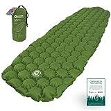 ECOTEK Outdoors Matelas Hybern8 ultraléger Gonflable randonnée Camping - Design FlexCell - Parfait pour hamacs et Sacs de Couchage (Feuille Persistante)