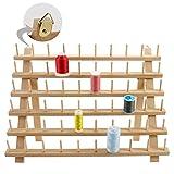 New brothread 60 Bobines Support de Filetage de Bois/Porte-bobines de Fil/Organisateur de Fil pour Broderie, matelassage et Fils à Coudre