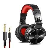 Casque DJ, OneOdio Pro10 Casque Audio Studio Professionnel, Casque Filaire, Casque de Monitoring, Son Parfait pour Synthétiseur PC Tablette Smartphone (Rouge)