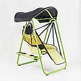Fauteuil à bascule pliable pour intérieur/extérieur, chaise à bascule avec auvent, design classique b