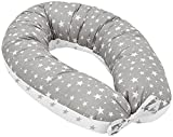 Jukki® Coussin d'allaitement, coussin de grossesse XXL, coussin de 170 cm pour la mère et l'enfant avec housse 100% coton, coussin pour bébé, oreiller pour femme enceinte