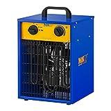 MSW Chauffage À Air Pulsé Électrique Aérotherme Radiateur MSW-CHEH-3300 (3300 W, 3 Niveaux De Puissance, 0-85°C, 507 m3/h)