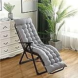 Coussins de chaise longue haut de gamme Coussin de chaise longue de remplacement Chaise longue inclinable Coussins de chaise longue Tapis d'extérieur Chaise longue de jardin Coussin doux (sans chaises