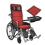 Fauteuil roulant pliant de bain peut être rambarde complètement amovible mettre le coussin en fauteuil roulant portable double coque imperméable personnes âgées