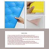 Baoblaze Épaissir Anti-Collision 3D Stickers Muraux Peintures Murales 3D Papier Peint Auto-adhésif 3D Panneaux Muraux Tatami Pad pour Bureau Café Lit Tête de Lit Salon - Rose