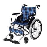 AWJ fauteuils roulants Fauteuil Roulant Pliable à l'arrière du Fauteuil Roulant pour Personnes âgées Coque en Alliage d'aluminium pour Personnes handicapées, Facile à Transporter fauteuils