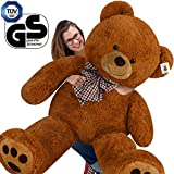 Deuba Ours en Peluche Teddy Bear XXXL 165 cm Brun Grand Ours en Peluche Teddy géant Nounours géant Doux