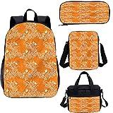 Lot de sacs à déjeuner pour carnets d'école Orange 38,1 cm