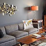 1 taie d'oreiller décorative45 x 45CM,Carte, Carte Politique très détaillée du Monde système de positionnement Mondial graphiqueTaie d'oreiller Decoratif Douce pour Maison Salon Chambre Lit Bureau