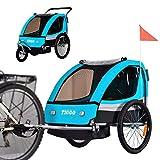 Tiggo Convertible Jogger Remorque à Vélo 2 en 1 pour Enfants BT504-D03 Bleu