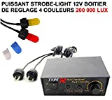 LCM2014 Superbe Strobe Light A BOITIER DE Commande 200 000 LUX ! 4 Couleurs ! Intervention Assistance Patrouille Voiture OUVREUSE. Raid Preparation 4X4 Faucet Donaldson TOPSPIN Snorkel