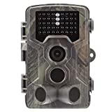 TRAACEM Caméra de Chasse étanche 16 MP 1080p pour Surveillance de la Faune Sauvage avec portée de détection de 120° et Vision Nocturne avec 42 Lampes infrarouges