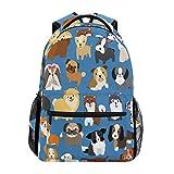 wteqofy Funny Cartoon Dog Paw Backpack Bookbags Daypack School Supplies for Students Girls Boys,Cute Puppy Animal Flowers Laptop Bookbag Shoulder Bag Travel Sports for Men Women