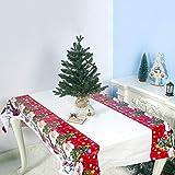 SpirWoRchlan Housse de coussin de Noël en PVC imperméable pour décoration de Noël