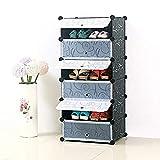 MUPAI Armoire Pratique et modulable, Armoire compacte pour Objets personnels, vêtements, Chaussures, Jouets et Livres (6 Cubes)