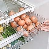 Bac de rangement pour réfrigérateur, organisateur de tiroir coulissant pour réfrigérateur, boîte de rangement à support transparent pour cloisons de réfrigérateur de 12 `` à 14 '' 1/4/8 `` Compar