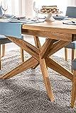 Marque Amazon -Alkove - Table de repas extensible en bois solide Olney, 160/210 x 77 x 95cm, Blanc/Chêne Sonoma
