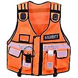 Gilet haute visibilité tactique - Pour maintien de l'ordre, sécurité, maître-chien, caméra de surveillance, orange